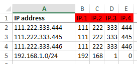 Servers - IP addresses sorting