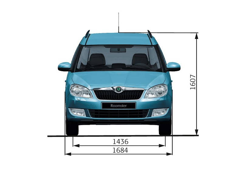 Skoda Roomster - Dimensions - front