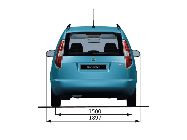 Skoda Roomster - Dimensions - rear